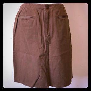 Liz Claiborne brown knee length skirt size 12